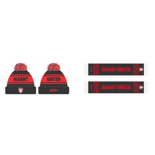 AUFC BEANIE AND SCARF COMBO